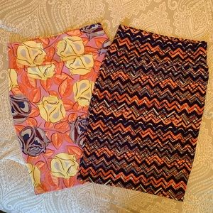 LulaRoe Cassie Pencil Skirts 2 skirts!